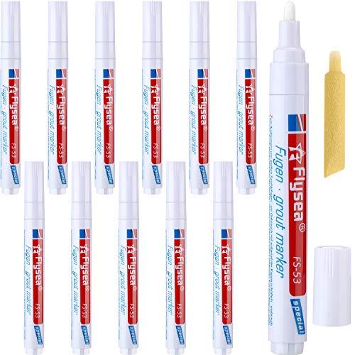 12 Stück Fugenstift Verjüngen Sie den Fugenstift Restaurator Erneuern Reparatur Marker für Fliesen Wand Flur (Weiß)