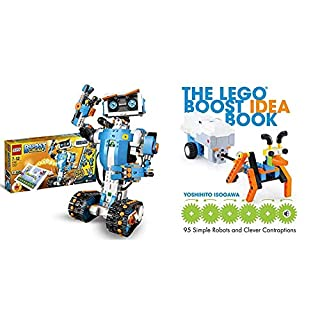 LEGO 17101 Boost Creative Toolbox Robotics Kit, 5 in 1 App Controlled Building Model & The Lego Boost Idea Book: 95 Simple Robots and Hints for Making More! (B08PG7Y5P1) | Amazon price tracker / tracking, Amazon price history charts, Amazon price watches, Amazon price drop alerts