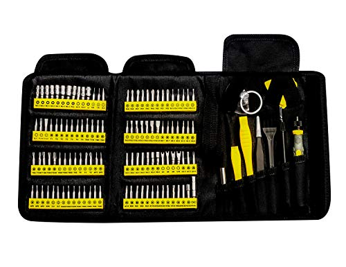 KER Precision Screwdriver Set, 126 in 1 Small Repair Tool Kit with Portable Bag for iPhone Mac iPad Tablet Laptop Xbox PS3 PS4 Eyeglasses Watch Cell Phone PC Camera