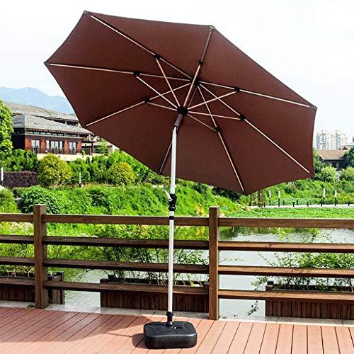YLJYJ Sombrillas Sombrilla para Patio, 3M Sombrilla Colgante en voladizo Sombrilla plátano con Sistema de manivela y 8 Varillas Resistentes para Mesa de Exterior Umbre (Silla)