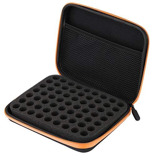 Organisateur d'huile essentielle de conception anti-crash, sac de stockage d'huile essentielle, portable pour voyager pour la maison(Orange)