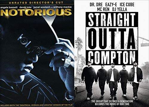 Music Generation Straight Outta Compton & Notorious Double DVD Feature Dr. Dre   Easy-E   Ice Cube   DJ Yeller   Mc Ren   B.I.G. Movie Pack
