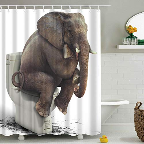 Sasairy 180x180cm Duschvorhang mit Muster Blutige Hände Halloween Badewannenvorhang Anti-Schimmel Wasserdicht Polyester Wannenvorhang mit 12 Duschvorhangringe