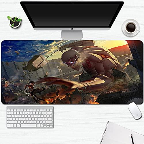 Ataque a Titan Mouse Pad Anime Gran Gaming Mouse Pad Juego Mat Oficina Escritorio Rectángulo Teclado Pad 900x400x3mm-A_900X400X3MM