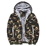Giacca militare da uomo, con zip, invernale, in pile caldo, antivento, termica, giacca da sci con cappuccio, parka, giacca per il tempo libero, vestibilità normale, giacca softshell, multicolore, M