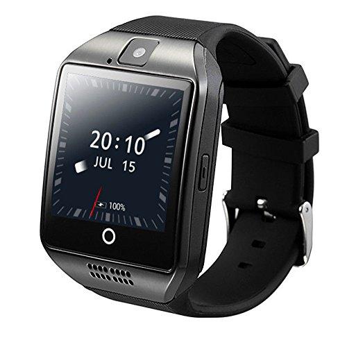 ZOMTOP Q18 Smart Watch Telefon Bluetooth Kamera SIM TF Karte Smartwatch für Android Samsung LG Google Pixel und iPhone 7 7Plus 6 6s 6s Plus (Schwarz)