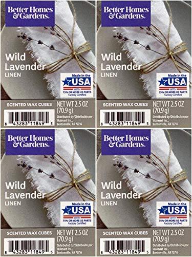 Better Homes and Gardens Wild Lavender Linen Wax Cubes - 4-Pack