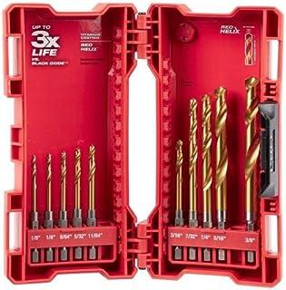 Milwaukee 48-89-4633 Shockwave Titanium Red Helix Drill Bit Set (10-Piece)