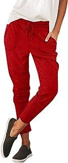 Sylar Pantalones Para Mujer De Vida,Tendencia De Moda Color Sólido Patchwork Suelto Bolsillo Pantalones Casuales Pantalone...