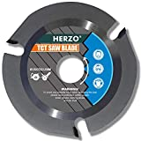 HERZO Grinder Wood Cutting Blade Disc 125mm, Carbide Carving Discs for Angle Grinder Woodcarving, Sculpting, Shaping, Grooving and Cutting