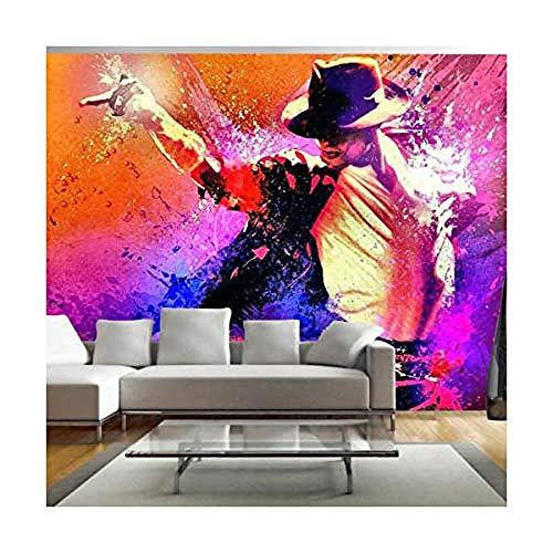 Relovsk Fototapete Michael Jackson Tanzen Fototapete Fototapete Muisc Promi Poster Dekoration100x70cm