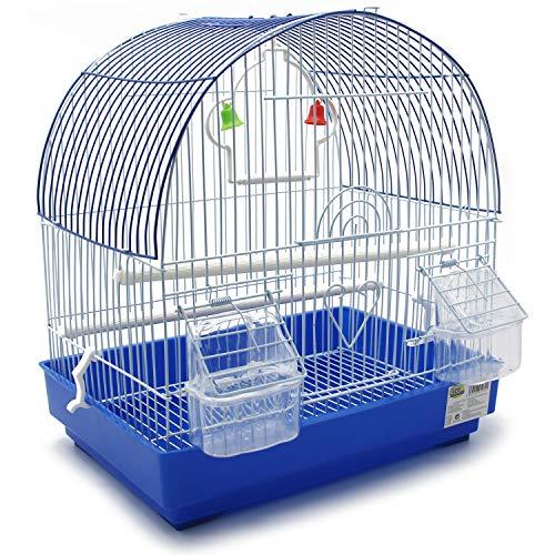BPS Jaula para Pájaro Pajarera Periquito Canarios con Comedero Bebedero Saltado Perchas para Descanso Color al Azar 34x23.5x36 cm BPS-1272