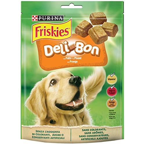 Purina Friskies Alimento Complementare con Pollo per Cani Deli Bon, 130g