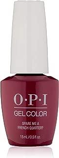 OPI GelColor Soak Off UV LED Gel Polish GCN55 Spare Me A French Quarter? 15ml