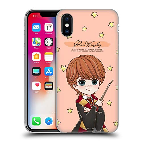 Head Case Designs Ufficiale Harry Potter Ron Weasley Deathly Hallows XXXVII Cover in Morbido Gel Compatibile con Apple iPhone X/iPhone XS