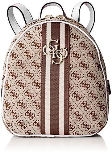 Guess - Vintage Backpack, Mujer, Blanco (White), 23x27.5x9.5
