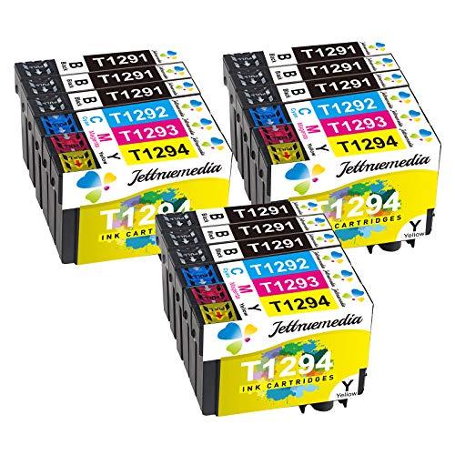 T1295 Cartuchos de tinta compatibles para Epson T1291 T1292 T1293 T1294 T1295 Negro Cian Magenta Amarillo Trabaja con Epson Stylus SX235W SX445W SX425W SX430W SX435W SX535WD BX305FW Plus WF-7515