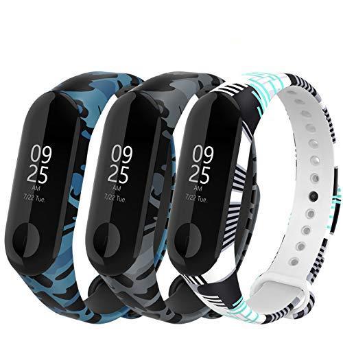 Adepoy Correa para Xiaomi Mi Band 3 / Mi Band 4, Coloridos Impermeable Reemplazo Correas Reloj Silicona Correa para Xiaomi Mi Band 3/4 Pulsera Silicona Band: Amazon.es: Deportes y aire libre