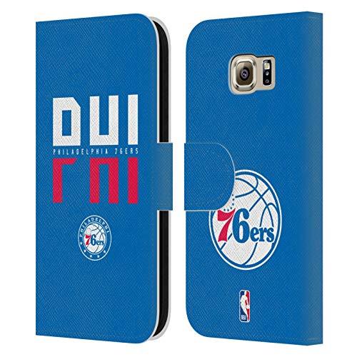 Head Case Designs Ufficiale NBA Tipografia 2019/20 Philadelphia 76ers Cover in Pelle a Portafoglio Compatibile con Samsung Galaxy S6