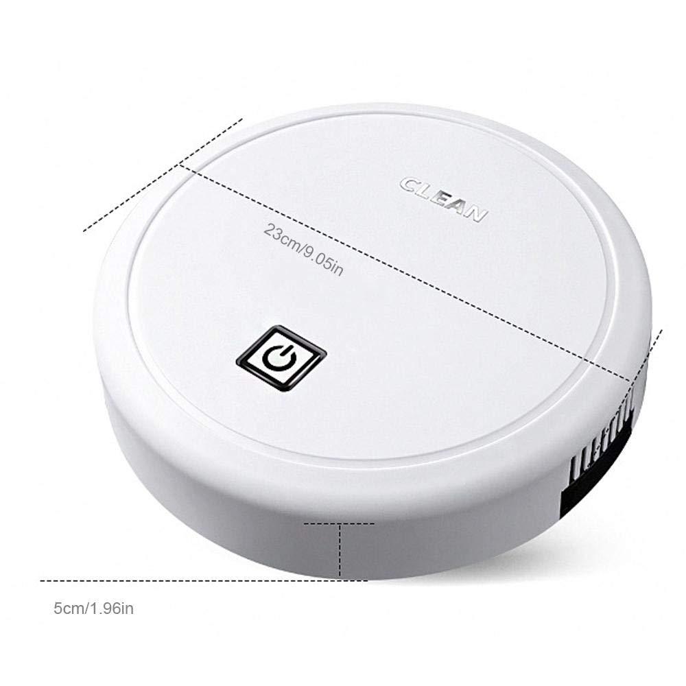 Vuffuw Robot Aspirador para Suelos Duros Y Alfombras, Robot Aspirador Inteligente Ultrafino, Barredora, Aspiradora, Succión Potente, Barredora con Sensor Anticolisión: Amazon.es: Hogar