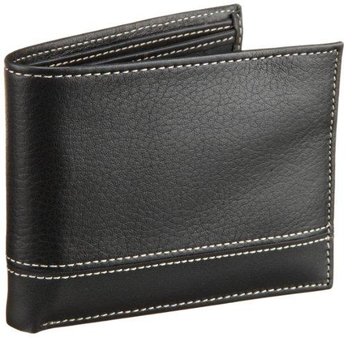 Perry Ellis Men's Sheridan Passcase Wallet, Black, One Size
