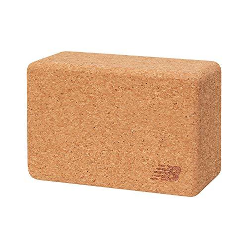 New Balance Cork Yoga Block - Natural Eco Yoga Brick | High Density Yoga Block Sustainable Wood Exercise Workout Props for Yoga, Meditation, Pilates, Stretching (9' x 6' x 4')