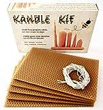 KIT para crear tus propias velas, con cera de panal de abeja pura y natural; obtenida en nuestras propias colmenas de forma sostenible. Origen España 100%.