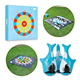 Outdoor Games for Kids and Family, Flarts Lawn Dart Games-Giant Yard Toys with 3 Tumbler Darts, Fun Outside Sports Activities for Backyard Camping Beach Party, Best Gift Idea for Boys Girls Teens