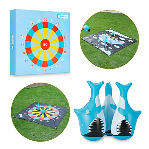 Family Games, Outdoor Games for Kids and Adult, Giant Yard Toys Lawn Games with 3 Tumbler Darts, Fun Outside Sports Activities for Backyard Camping Beach Party, Best Gift Idea for Boys Girls Teens