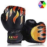 Luniquz Kinder Boxhandschuhe, Box-Handschuhe für Kinder von 3-14 Jahre Training Gloves 4OZ 6OZ zum MMA, Muay Thai, Kickboxen und Sandsack Sport