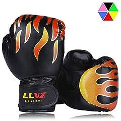Luniquz Kids Rękawice bokserskie, Rękawice bokserskie dla dzieci od 3-14 lat Rękawice treningowe 4OZ 6OZ do MMA, Boks tajski, Kickboxing i Sandbag Sport