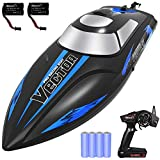 YEZI Remote Control Boat for Pools & Lakes,Fast RC Boat for Kids & Adults,Self Righting Remote Controlled Boat W/Extra Battery