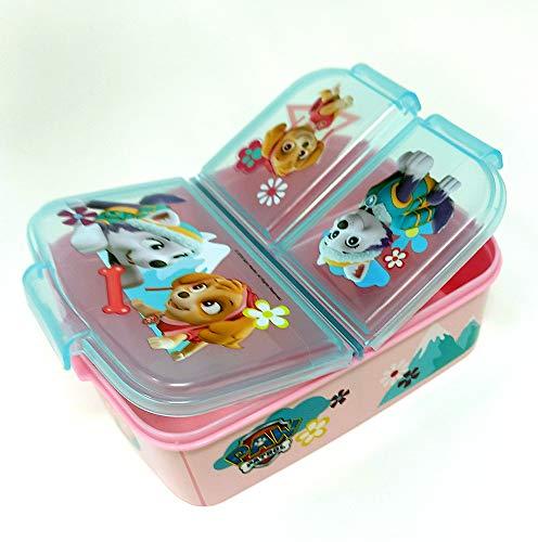 Fiambrera para niños de La Patrulla Canina, con 3 compartimentos, ideal para la escuela, la...