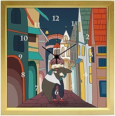掛け時計 おしゃれでかわいい掛け時計 「夢を抱える」 kuko(くこ) 日本製 東京アートラボ