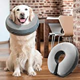 GoodBoy Comfortable Recovery E-Collar for Dogs and Cats – Soft Inflatable Donut Collar Designed for Protecting Small Medium or Large Pets Post Surgery or Wounds (Grey, 3)