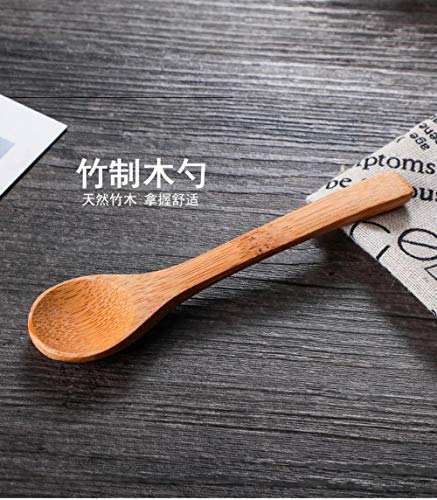Binnenlands glazen staafje, keuken met bamboe kussensloop bamboe lepel kruidkruik Box,bamboe lepel