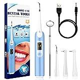 Kit de limpieza dental eléctrico,Limpieza Dental 4in1,Limpieza de los Dientes Bucal Limpiador con 5 Modos de Cepillado, 4 Recambio Cabezales kit