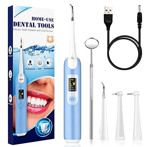 Zahnpflegesets,Zahnreinigung Set,Tooth cleaning kit,4 Reinigungskopf und 5 Modus,USB-Zahnreinigungsset für Pflege von…