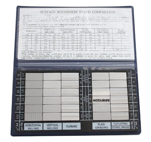Accusize Industrial Tools Surface Roughness Comparator Imperial/Metric Combo, 3602-0226
