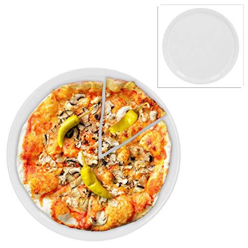 Van Well 2er Set Wellco-Design Pizzateller Ø 31 cm, weiß, Pizzaplatte, Porzellan, schlicht