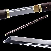 SJ SHI JIAN Japanese Ninja Sword Rosewood Handle Scabbard Carbon Steel Shirasaya Ninjato