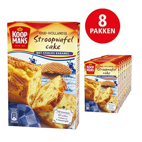 Koopmans Oud-Hollandse Stroopwafelcake met Stukjes Karamel bakmix (8x 400g multipack), mix bevat 1 cake