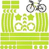 QIMMU 42 Piezas Pegatina Reflectante Bicicleta,Adhesivos Ref