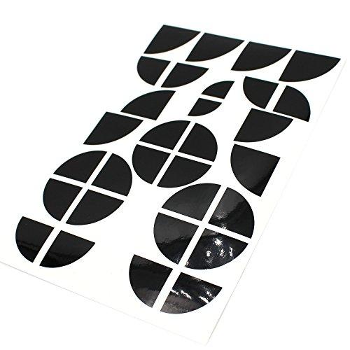 Emblem Ecken Aufkleber Glanz von Finest-Folia K004 (Schwarz Glanz)