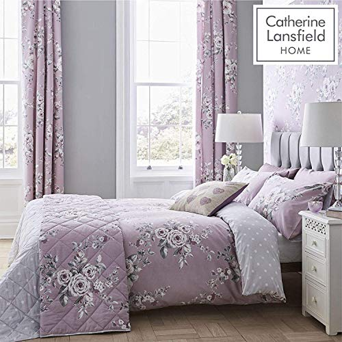 Catherine Lansfield Canterbury Easy Care Super King Duvet Set Heather