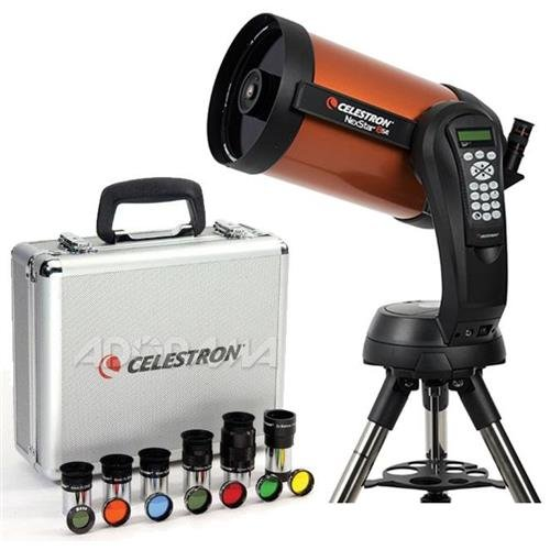 "Celestron NexStar 8 SE Schmidt-Cassegrain Computerized Telescope - with Deluxe Accessory Kit (5 Plossl Eyepieces, 1.25"" Barlow Lens, 1.25"" Filter Set, Accessory Carry Case"