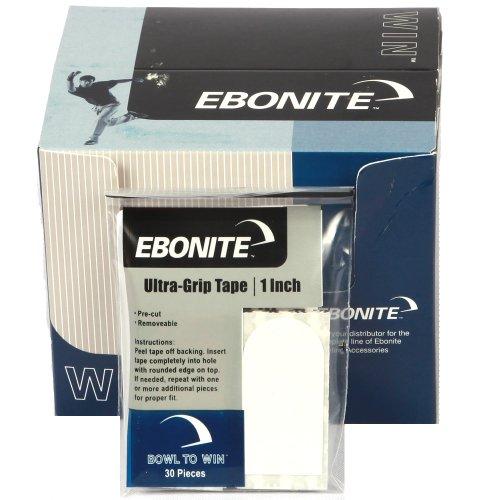 Ebonite Bowling Tape Bowler (1weiß)–30Stück, 2,5cm, Herren, Bowlers, weiß