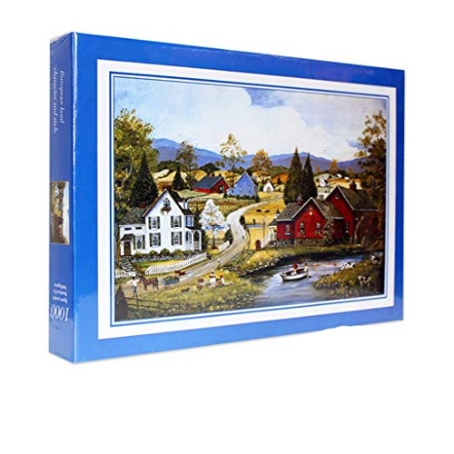 Allywit Jigsaw Puzzles 1000 Pieces for Adults Kids - Vintage Paintings Landscape-Decompression Fun Toy - Parent Child Cooperative Games - Educational Toys Creative Learning Games (A)