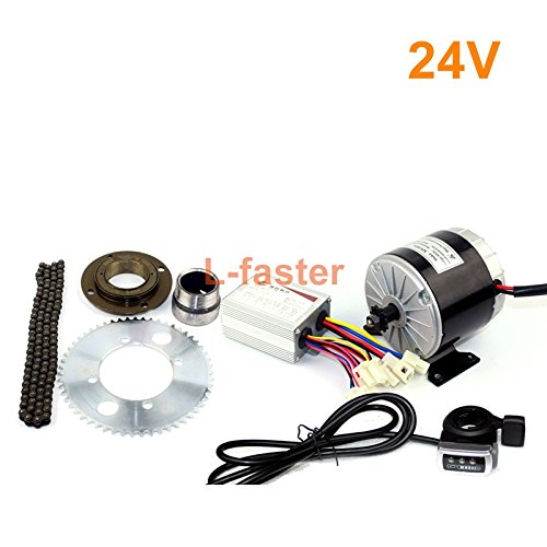 L-faster 24v36v 350w motor satz elektro gokart motorsystem mit gas pedal electric bike conversion kit diy elektro 4 räder wagen
