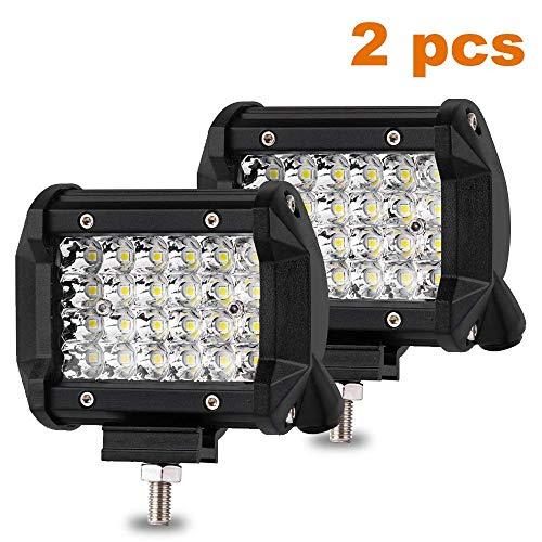 LED Arbeitsscheinwerfer, 144W LED Zusatzscheinwerfer 4 Zoll Offroad Scheinwerfer 10800LM 10-80V 6500K IP67 Wasserdicht LED Spotlight für SUV, ATV, Truck Offroad, Auto, Boot(2 Stück)